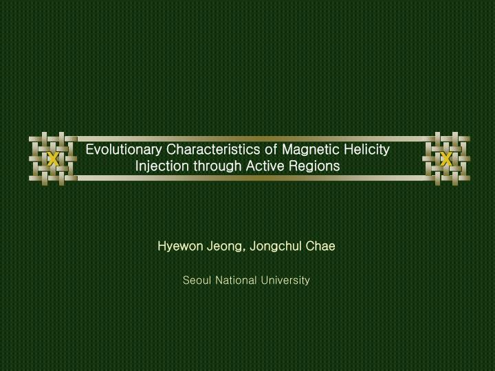evolutionary characteristics of magnetic helicity injection through active regions n.