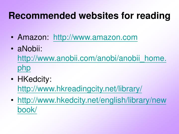 recommended websites for reading n.