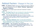 political factors changes to the law