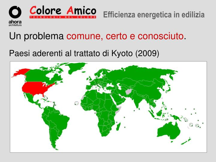 Paesi aderenti al trattato di Kyoto (2009)