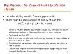 kip viscusi the value of risks to life and health