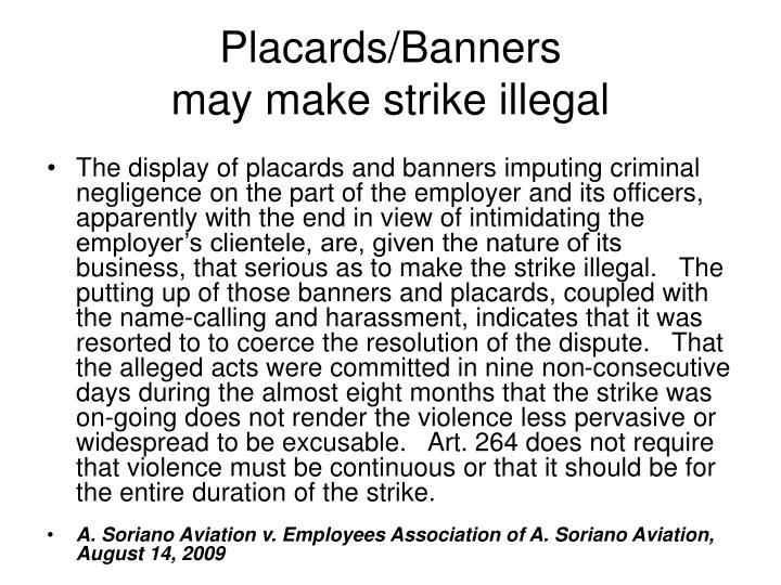 Placards/Banners