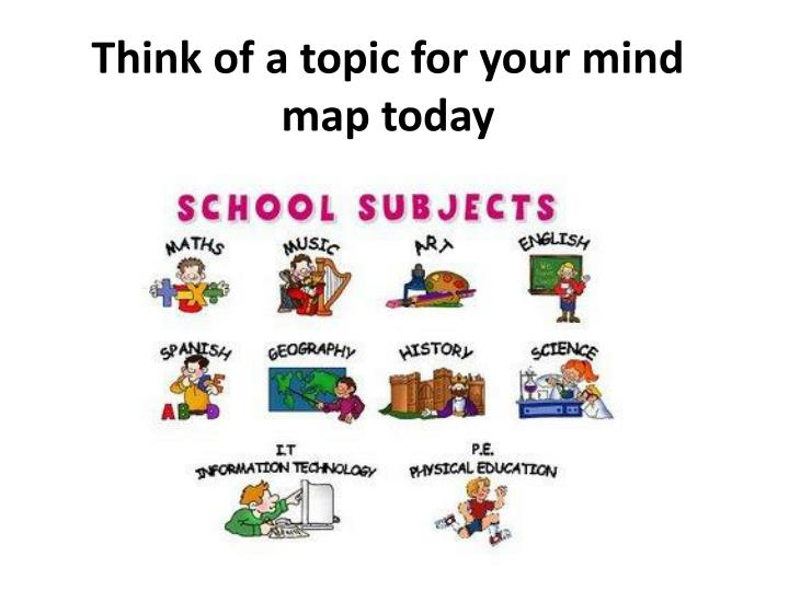 Think of a topic for your mind map today