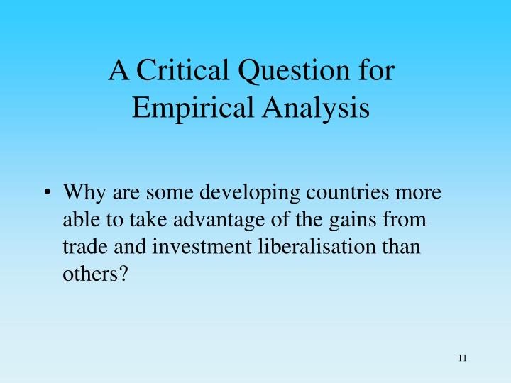 A Critical Question for