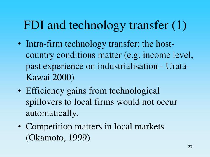 FDI and technology transfer (1)