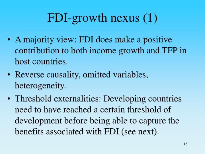 FDI-growth nexus (1)