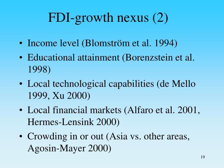 FDI-growth nexus (2)