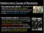 medium term causes of revolution