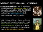 medium term causes of revolution1