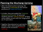 planning the wuchang uprising