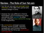review the role of sun yat sen