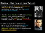 review the role of sun yat sen1
