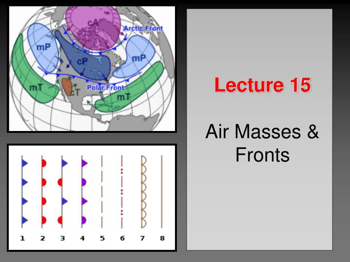 lecture 15 air masses fronts