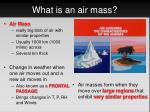 what is an air mass