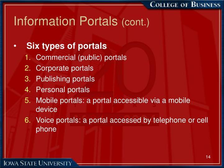 Information Portals