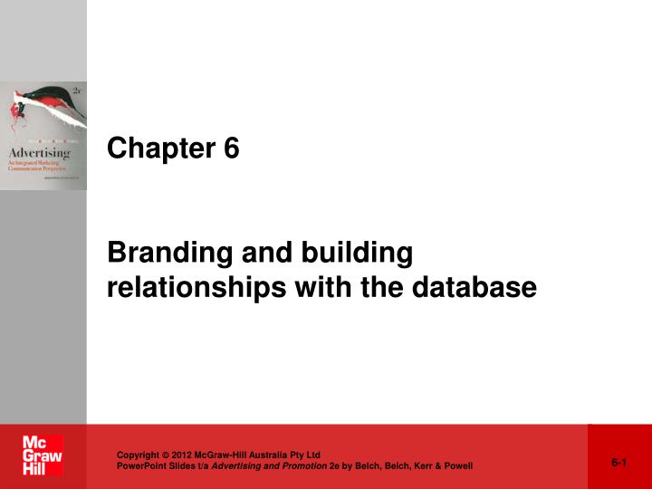 chapter 6 branding and building relationships with the database