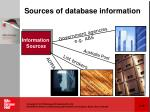 sources of database information