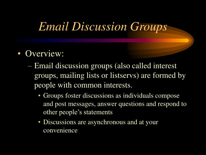 Email Discussion Groups
