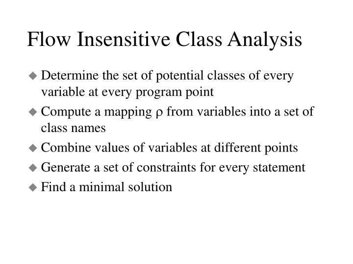 Flow Insensitive Class Analysis