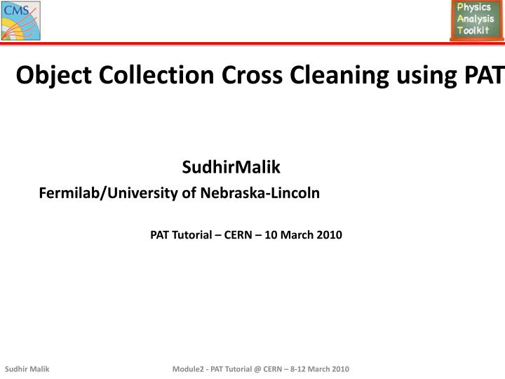 Object Collection Cross Cleaning using PAT