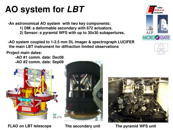 Ao system for lbt