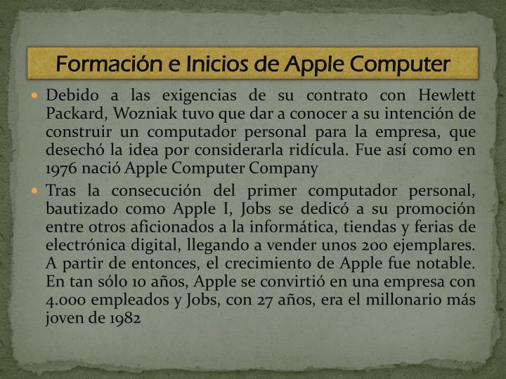Formación e Inicios de Apple Computer