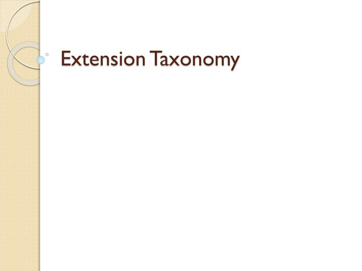 Extension Taxonomy