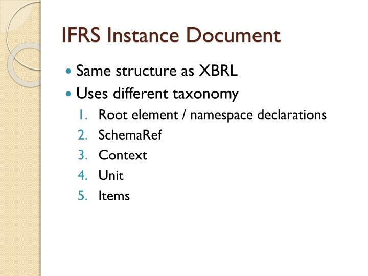 IFRS Instance Document