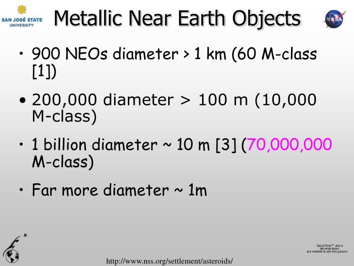 Metallic Near Earth Objects
