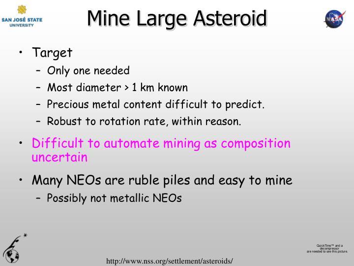 Mine Large Asteroid