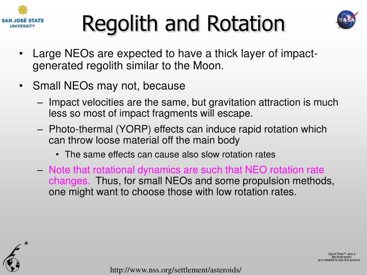 Regolith and Rotation
