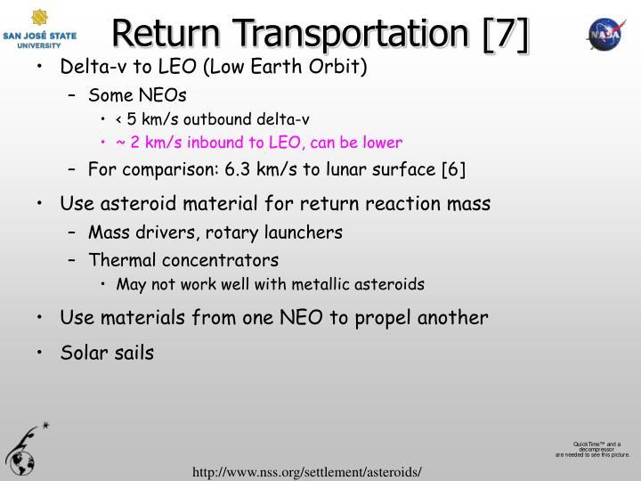 Return Transportation [7]