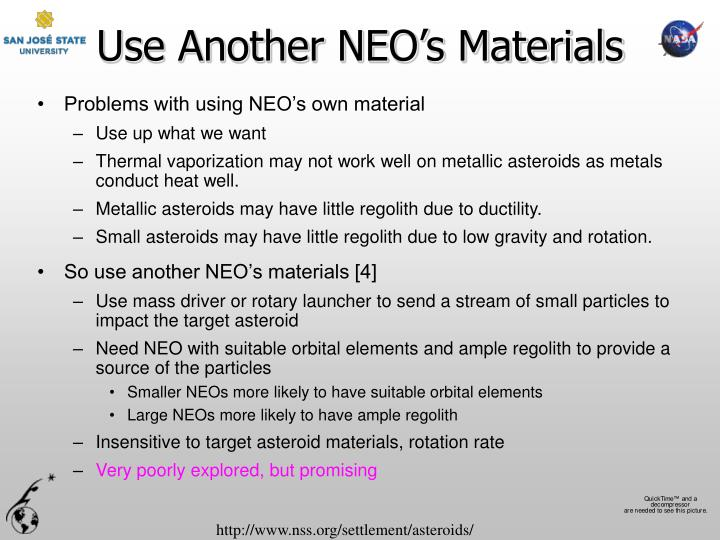 Use Another NEO's Materials