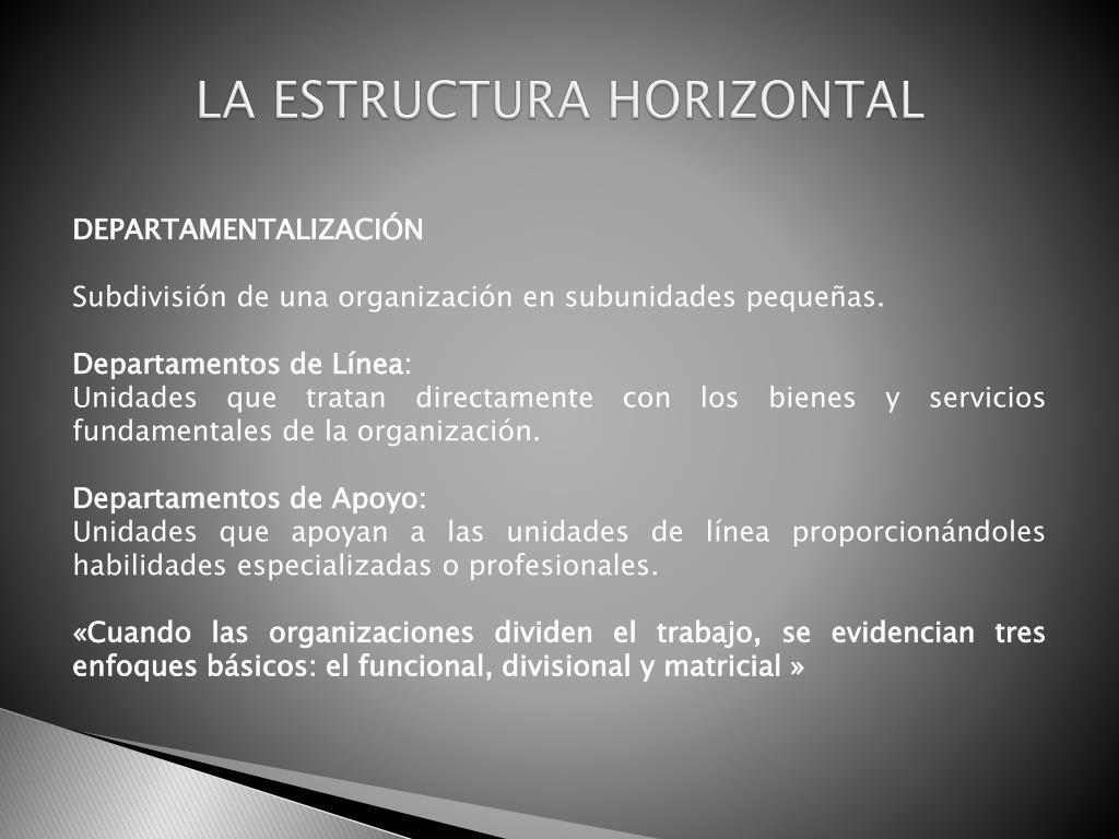 Ppt Estructura De La Organización Powerpoint Presentation