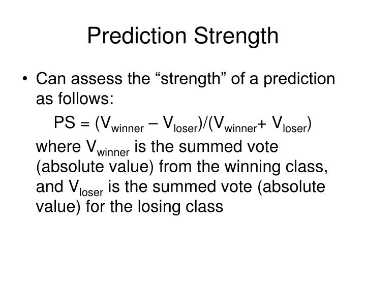 Prediction Strength