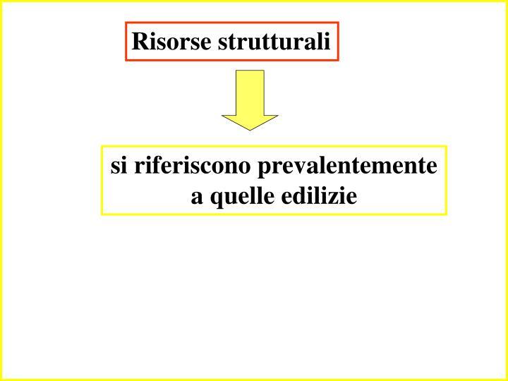 Risorse strutturali
