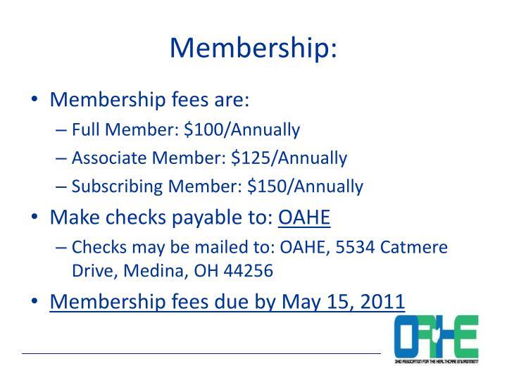 Membership: