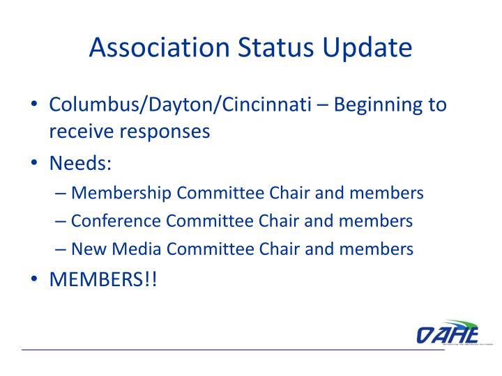 Association status update