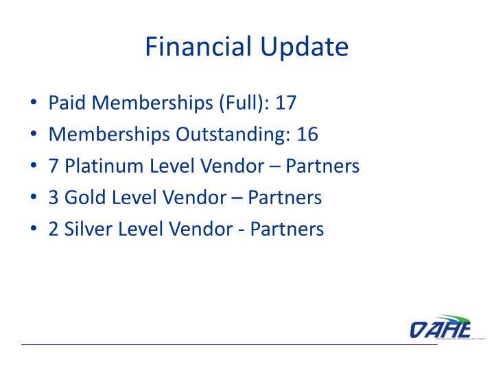 Financial Update