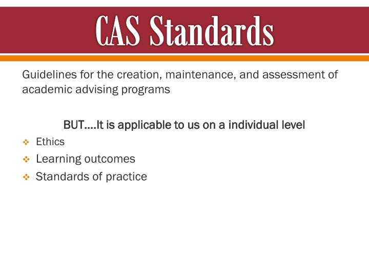CAS Standards