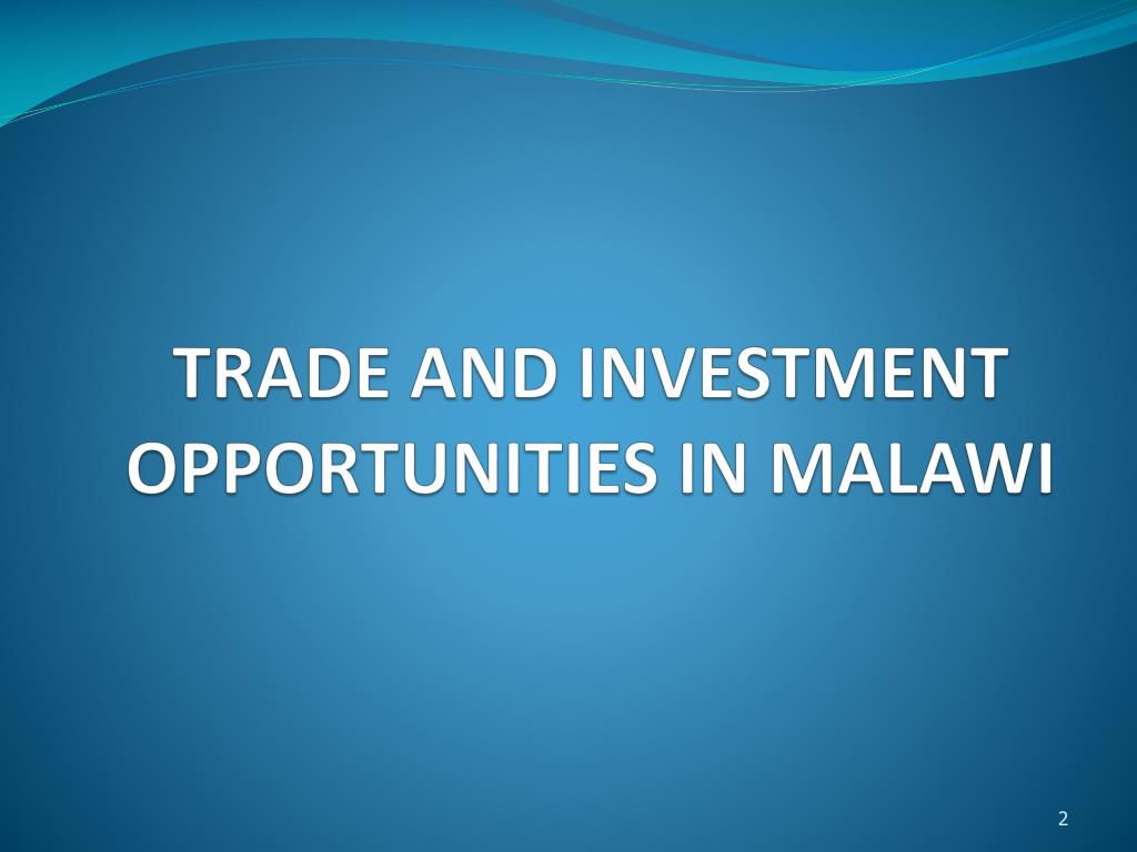 PPT - 2009 AFRICA BUSINESS CONFERENCE TRADE AND INVESTMENT
