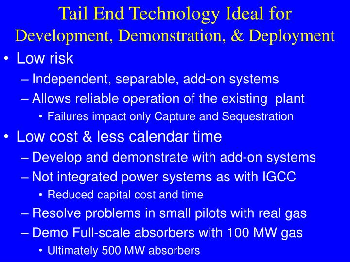 Tail End Technology Ideal for