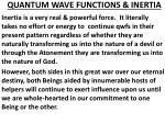 quantum wave functions inertia
