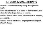 s i units smaller units