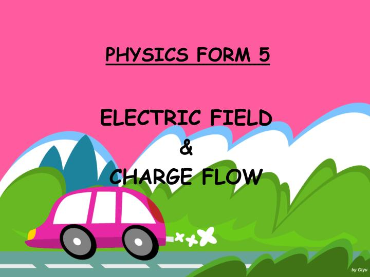electric field charge flow n.