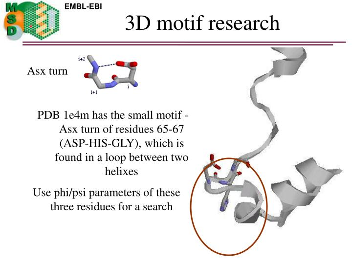 3D motif research