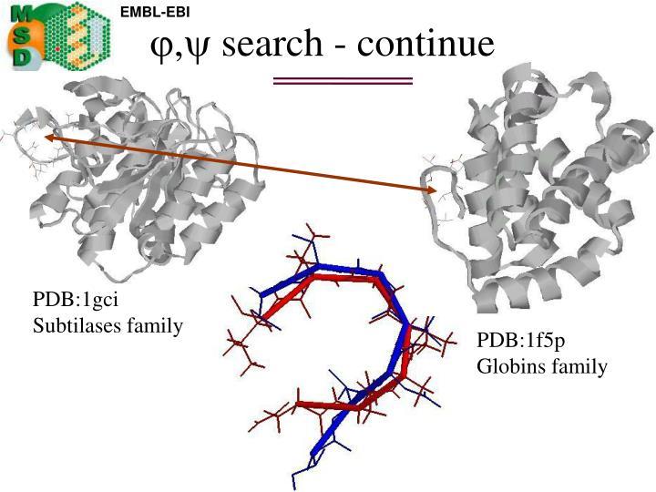 , search - continue