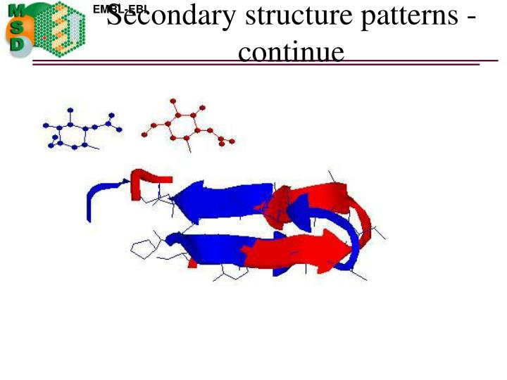 Secondary structure patterns - continue