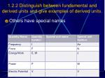 1 2 2 distinguish between fundamental and derived units and give examples of derived units1