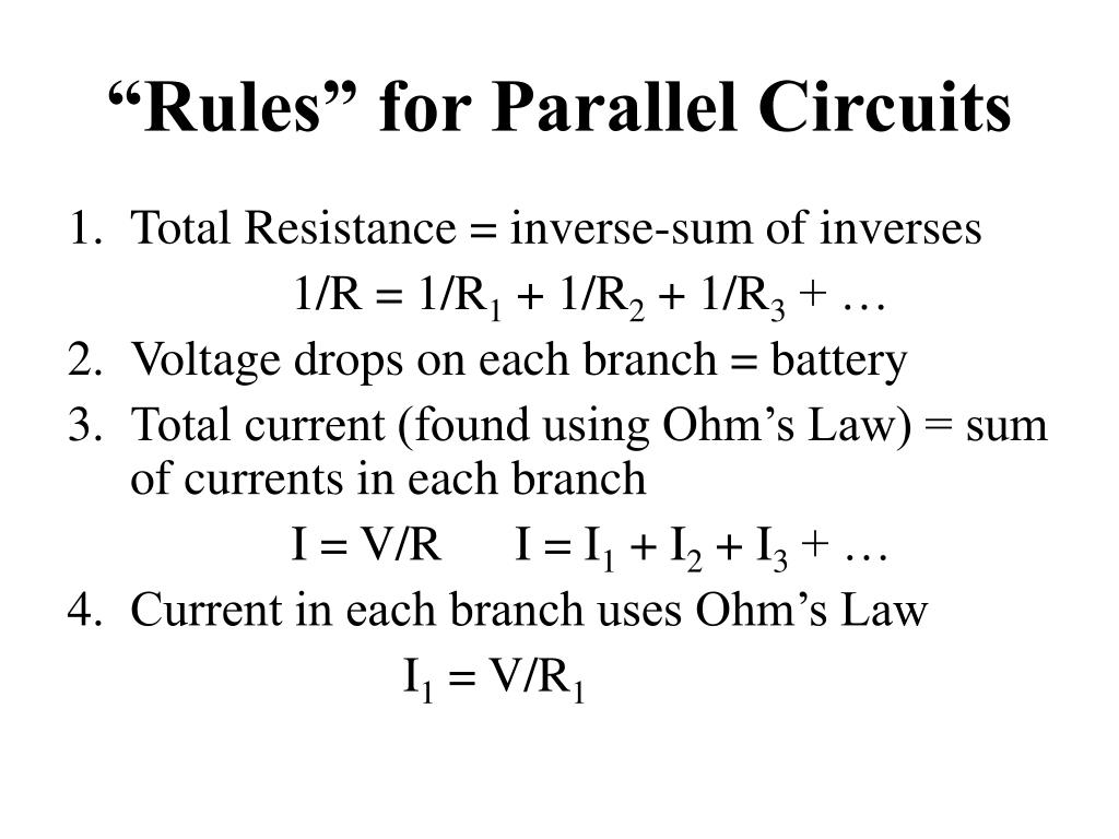 V R And I In Parallel Circuits Worksheet - Stairs Design Blog